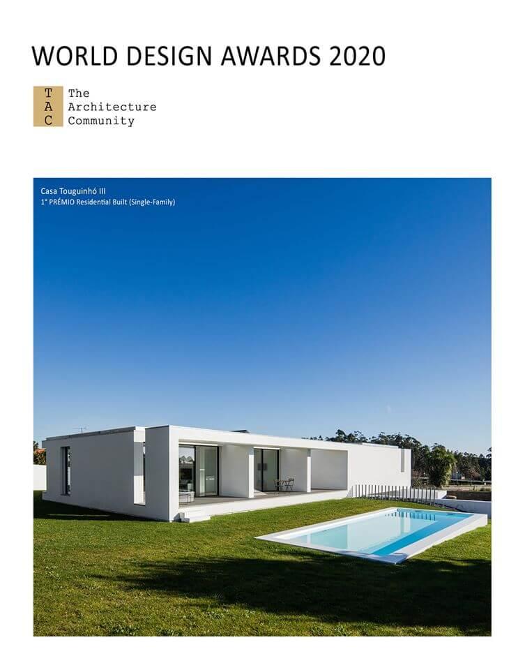 Casa Touguinhó III vence o 1º Prémio do World Design Awards 2020