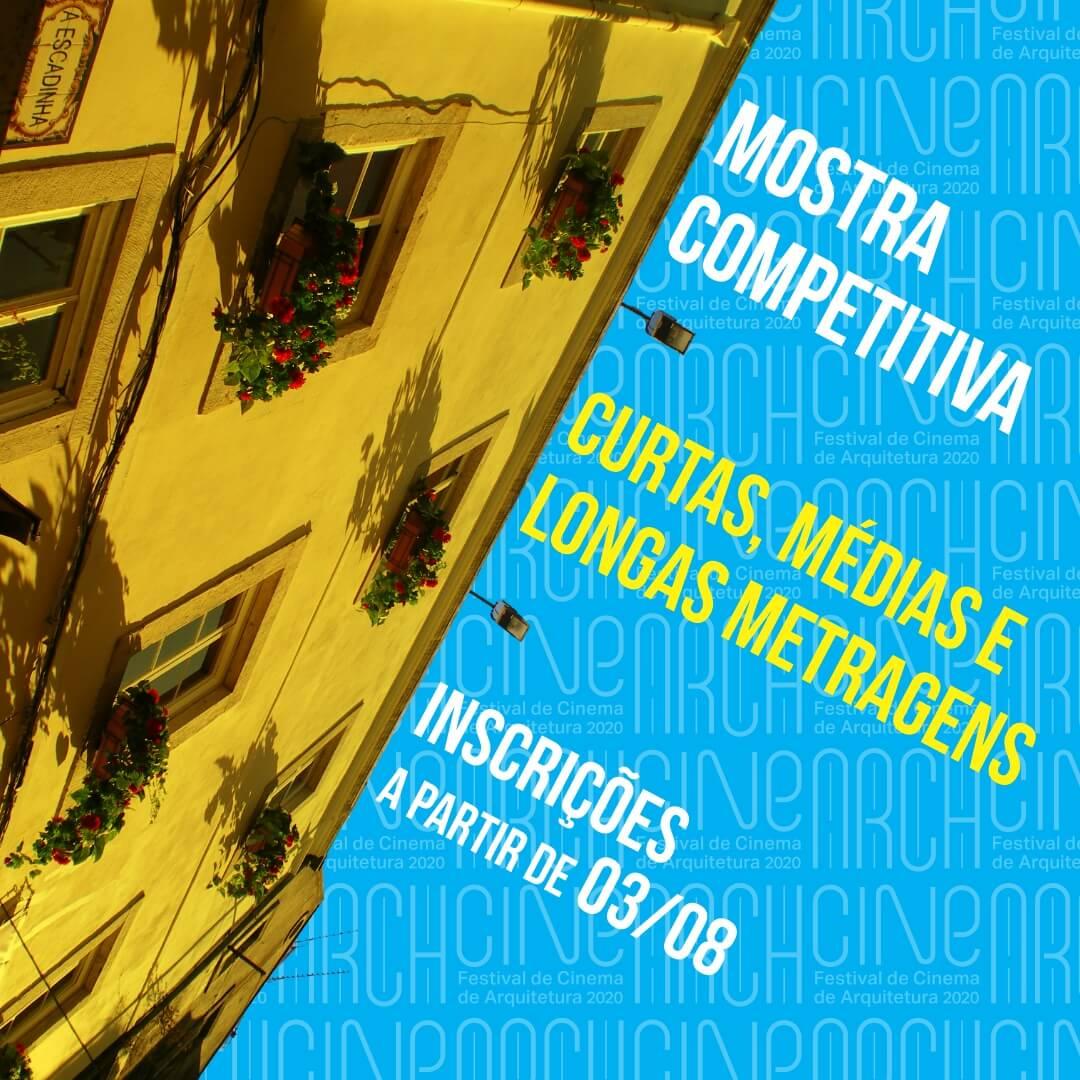 INSCRIÇÕES ABERTAS: ARCHcine – Festival Internacional de Cinema de Arquitetura