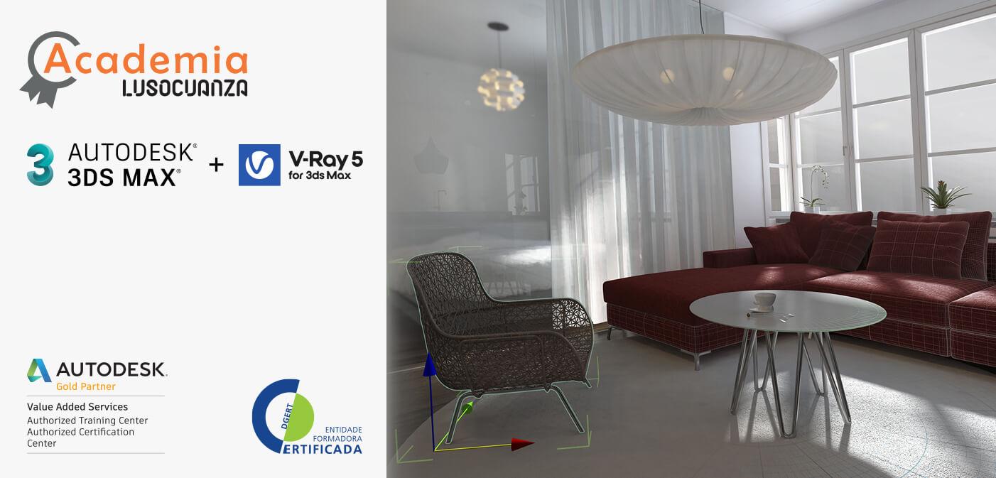 Curso Autodesk 3ds Max + V-Ray (49 horas)