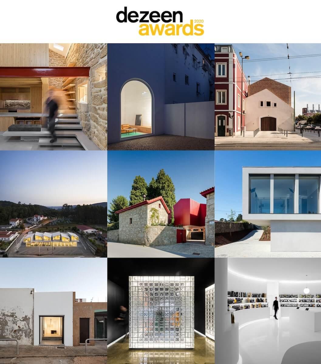 Projetos portugueses entre os finalistas dos Dezeen Awards 2020