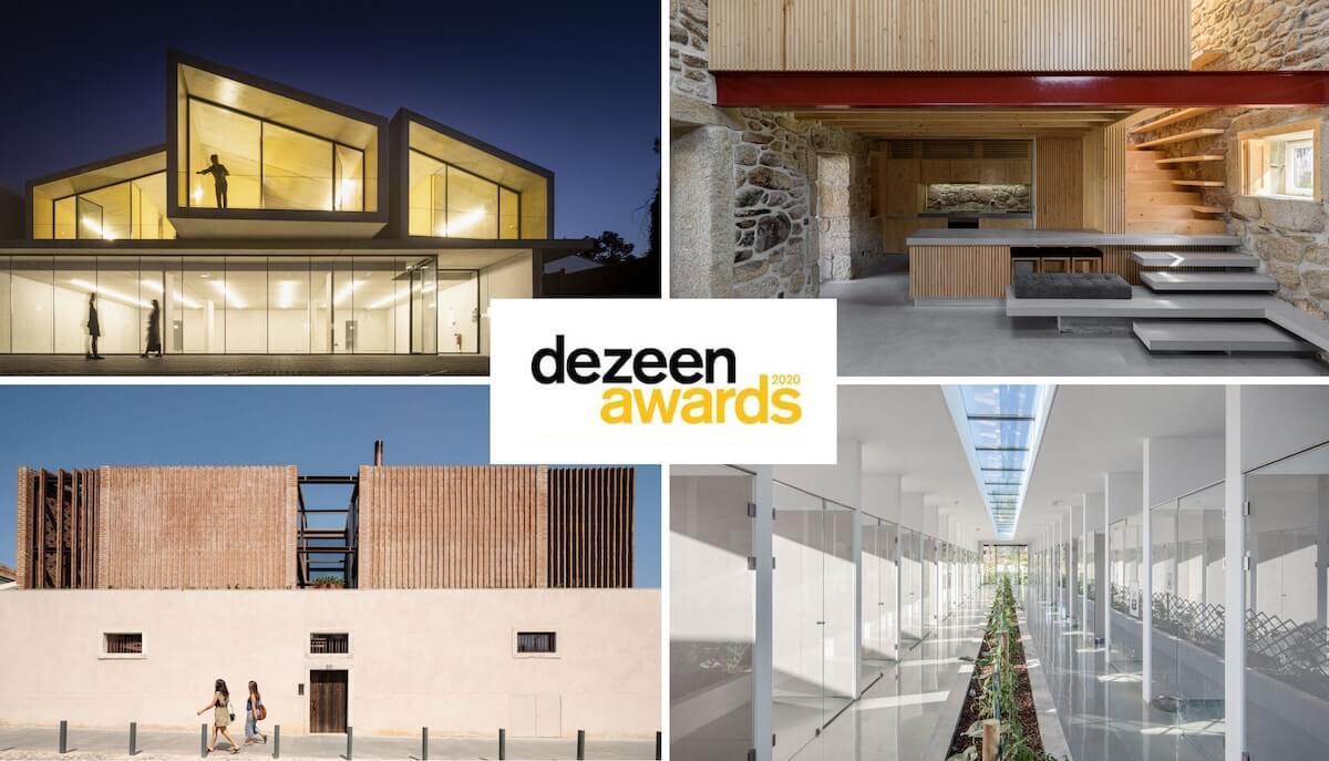 4 projetos portugueses na shortlists dos Dezeen Awards 2020