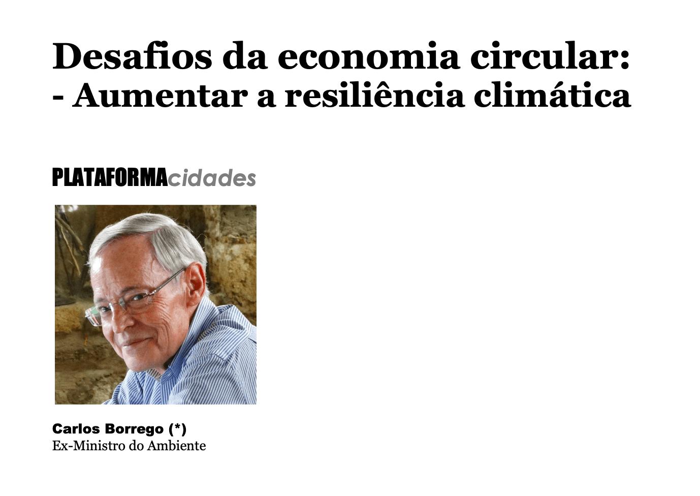 Desafios da economia circular: Aumentar a resiliência climática