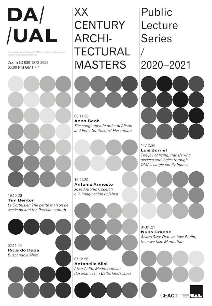 Conferências: XX Century Architectural Masters
