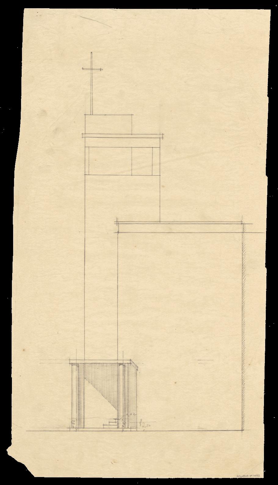 José Marques da Silva, Estudo de alçado, Casa de Serralves, Porto, 1931