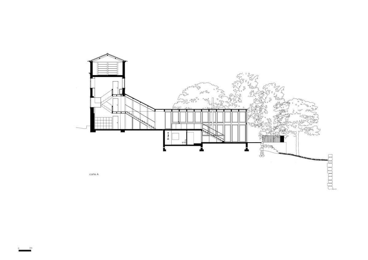 Floret Arquitectura . Golgota 10 - corte A