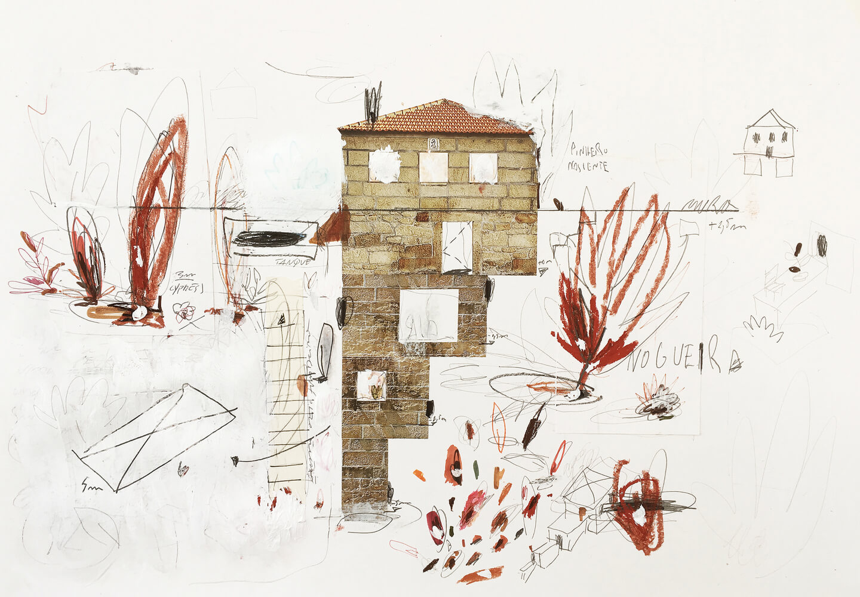 A House, a Walnut Tree and a Terrace . Corpo Atelier