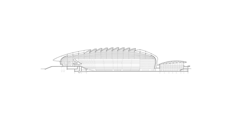 Pavilhão Atlântico_Regino Cruz + S.O.M. . Corte Longitudinal