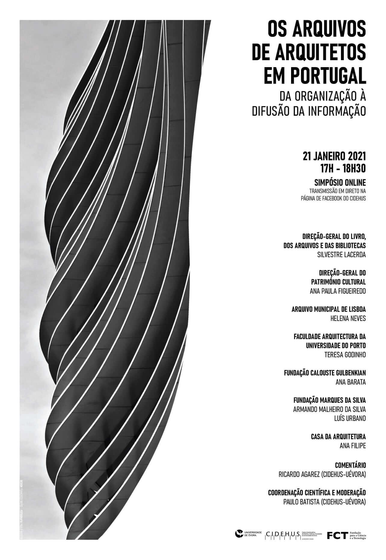 Os Arquivos de Arquitetos em Portugal: da organização à difusão da informação