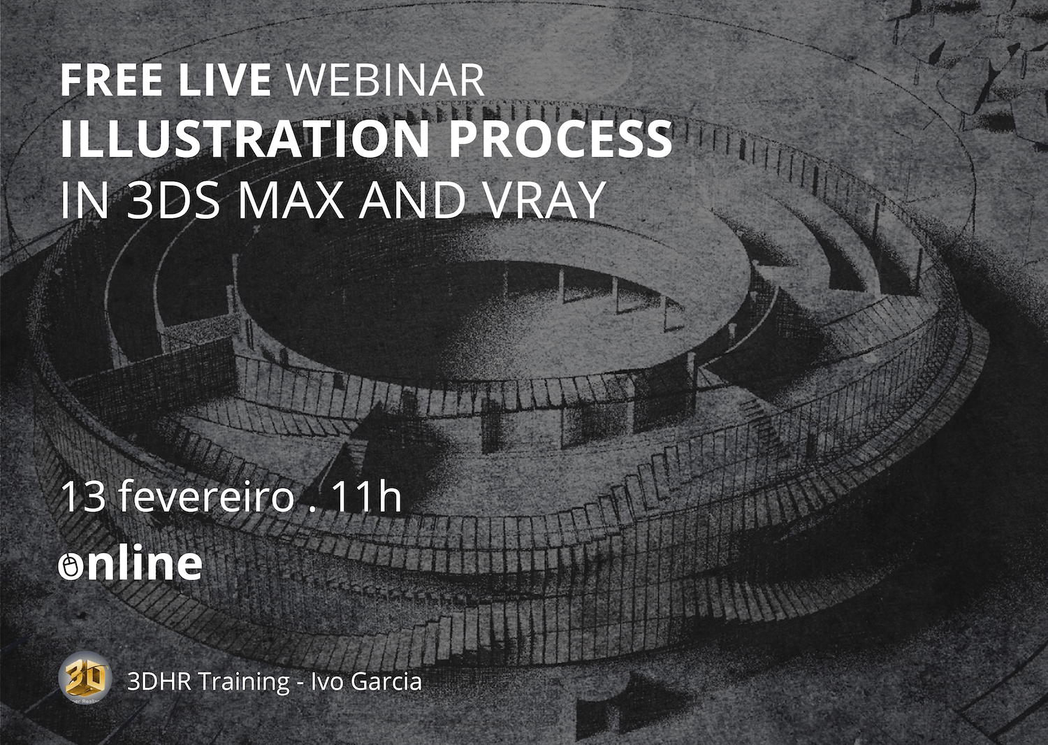 Free live webinar 3DHR: Ilustration process in 3ds Max and Vray