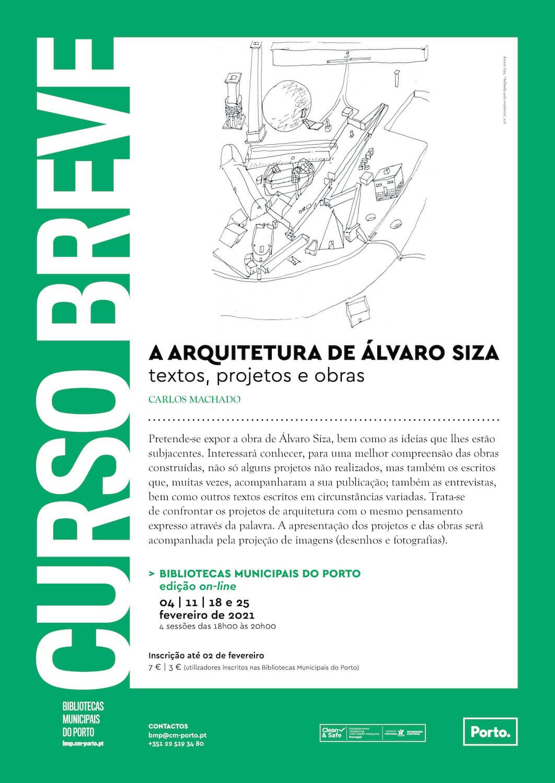 "Curso online: ""A arquitetura de Álvaro Siza, textos, projetos e obras"""