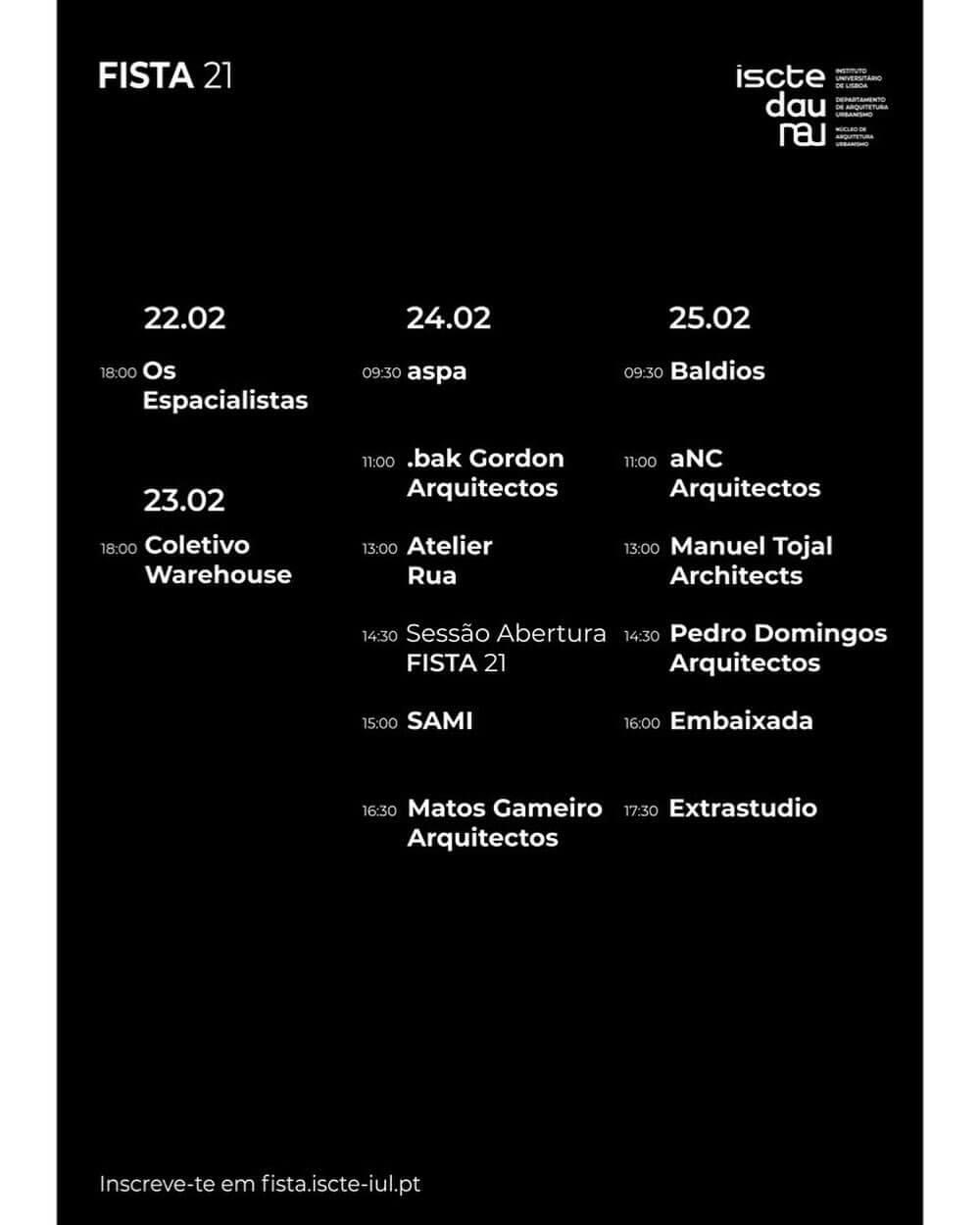 Fista 21: Conferências de Arquitetura