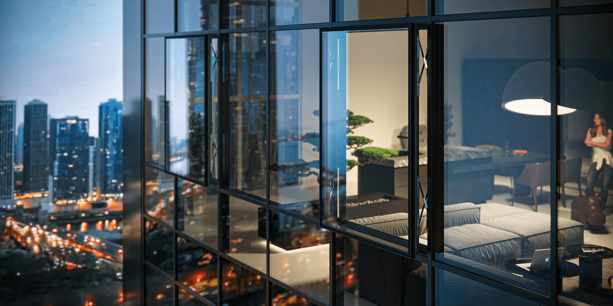 Reynaers Aluminium redesenha soluções de abertura para o exterior em fachadas