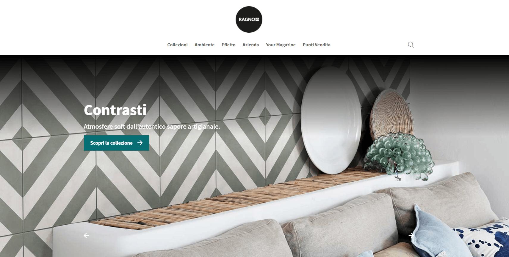 Nova página web da Ragno Ceramiche totalmente renovada