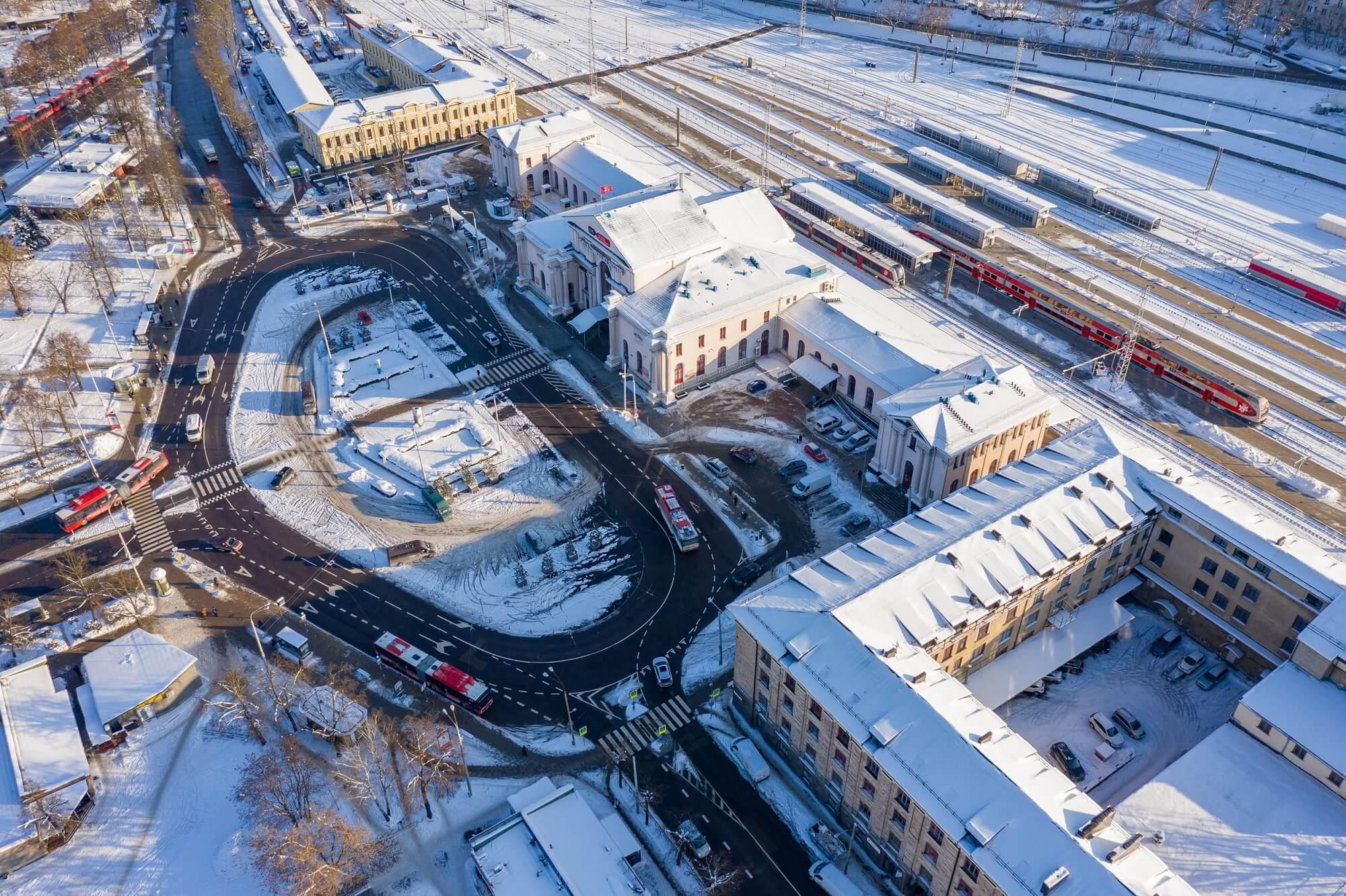 Terminal de transportes em Vilnius . Lituânia