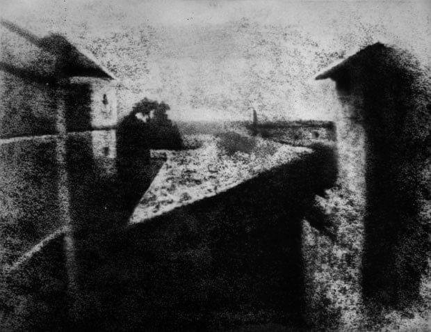 Primeiro registo a que se pode chamar fotografia, © Joseph Niépce, 1826