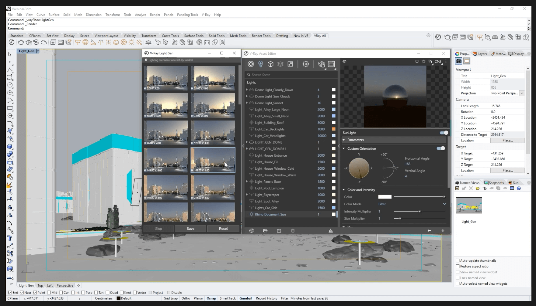 Free live webinar 3DHR: V-Ray for Rhino