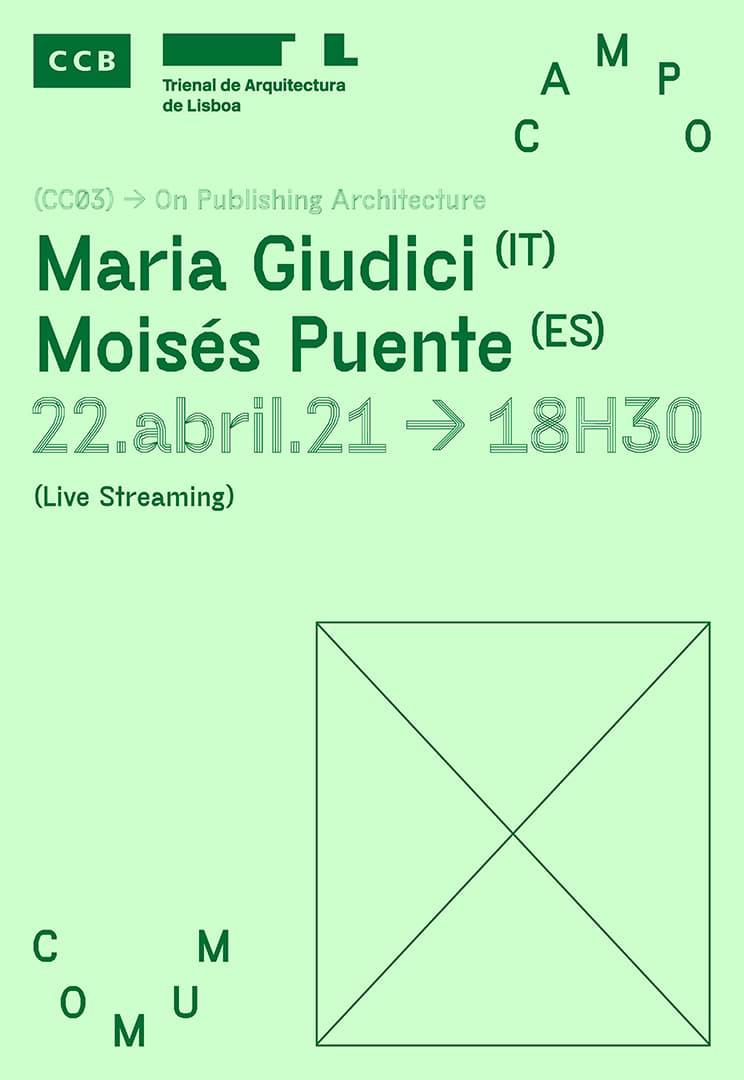 Cartaz da Conferência #3,Edições em Arquitectura ©Desisto