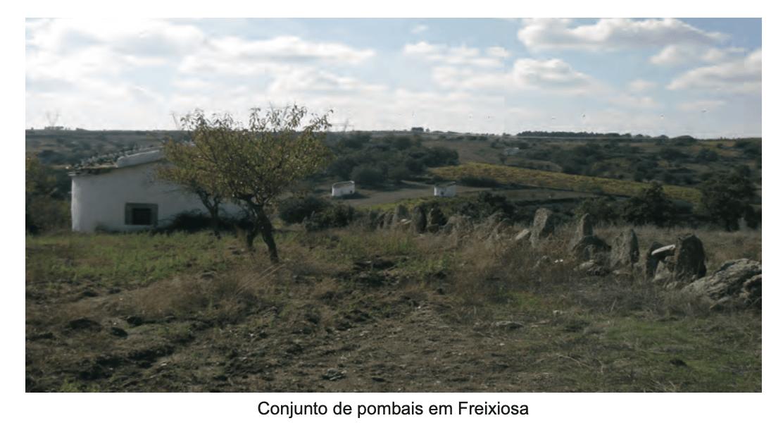 Conjunto de pombais em Freixiosa