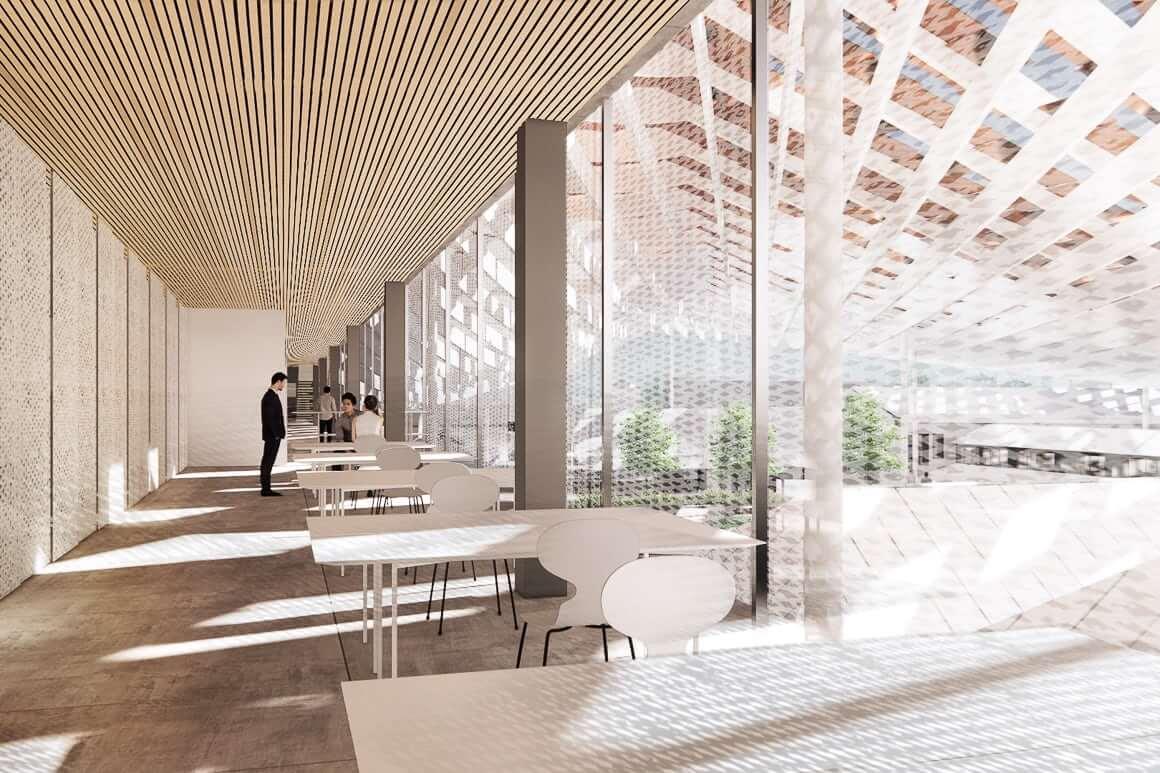 Imagens do projeto de arquitetura assinado pelo arquiteto japonês Kengo Kuma em parceria com o gabinete OODA