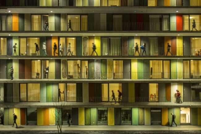 EPFL Quartier Nord in Switzerland designed by Richter Dahl Rocha & Associes . Credits Fernando Guerra