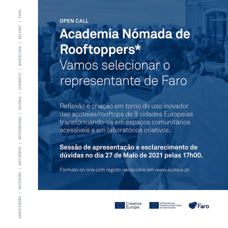 Faro: Open Call Academia Nómada de Rooftoppers