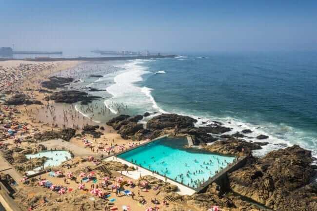 Swimming Pools in Leça da Palmeira, Portugal – Designed by Álvaro Siza Vieira . Credits João Morgado