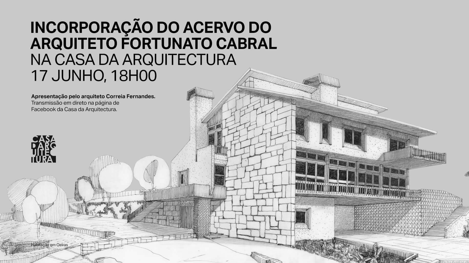 Acervo do arquiteto Fortunato Cabral vai ser incorporado no Arquivo da Casa da Arquitectura