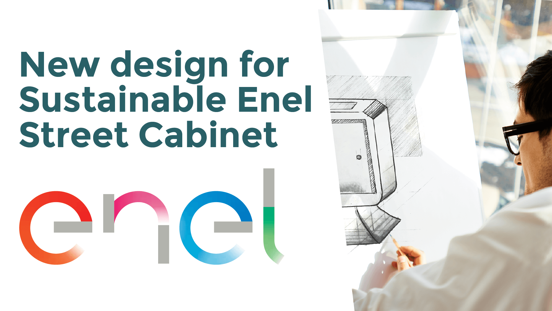 New design for a smart and sustainable Enel street cabinet